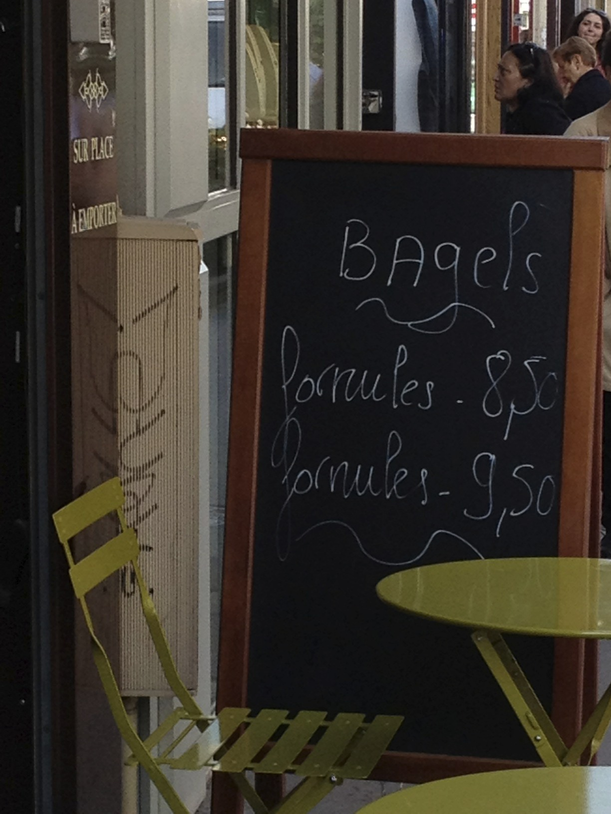 I came across this bagel joint in Paris in July…I didn't try it...